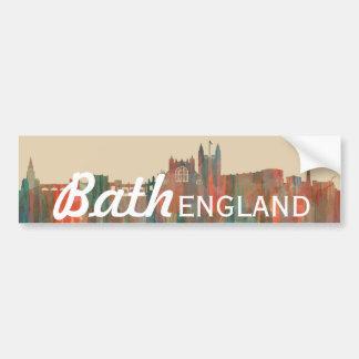 BATH, UK SKYLINE - BUMPER STICKER