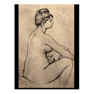 Bather Drying Herself_Studies of the Masters Postcard