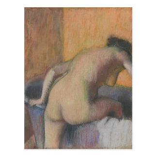 Bather Stepping into a Tub Postcard