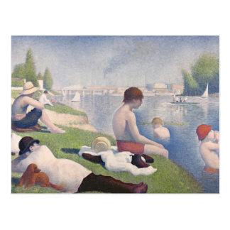 Bathers at Asnières, 1884 (oil on canvas) Postcard
