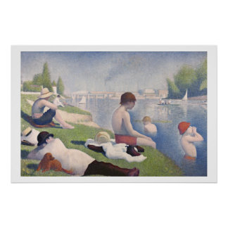 Bathers at Asnières, 1884 (oil on canvas) Poster