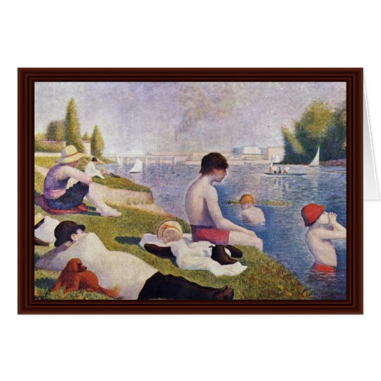Bathers At Asnieres,  By Seurat Georges Card