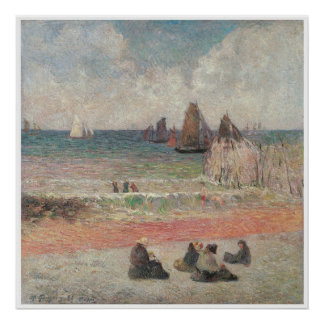 Bathers at Dieppe 1885 Poster