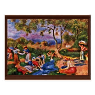 Bathers By Pierre-Auguste Renoir (Best Quality) Postcard