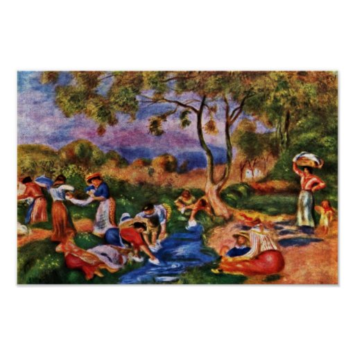 Bathers By Pierre-Auguste Renoir (Best Quality) Posters