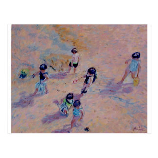 Bathers from above postcard
