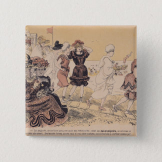 Bathers, from L'Assiette au Beurre 2 Inch Square Button