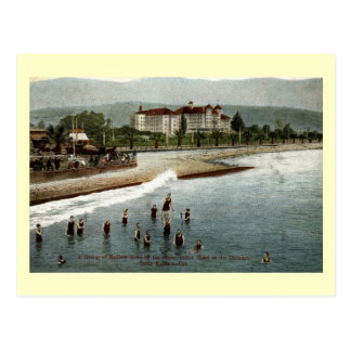 Bathers, Hotel Potter, Santa Barbara CA, 1908 Postcard