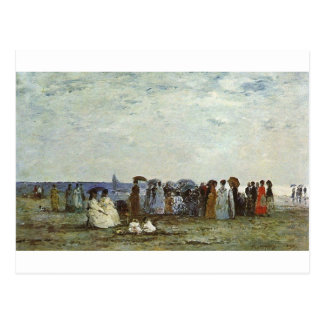 Bathers on the Beach at Trouville Postcard