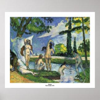 Bathers Paul Cezanne 1874 Poster