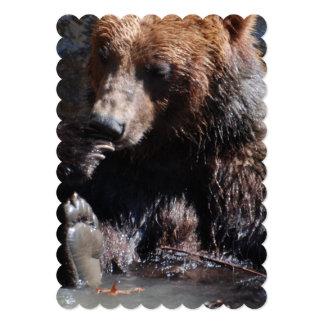 "Bathing Bear 5"" X 7"" Invitation Card"