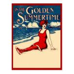 Bathing Beauty in Red Postcard