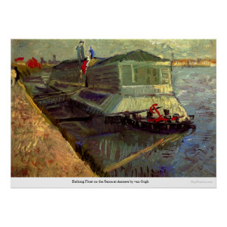 Bathing Float on the Seine at Asniere by van Gogh Poster