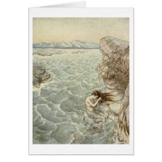 Bathing in the Sea (Blank Inside) Card