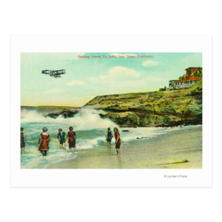 Bathing Scene at La Jolla BeachSan Diego, CA Postcard