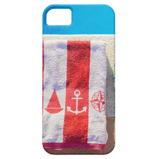 Bathing slippers and bath towel at swimming pool case for the iPhone 5
