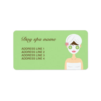 Bathing Spa Woman With A White Face Mask Label