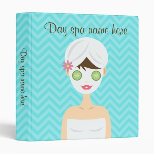 Bathing Spa Woman With A White Face Mask Vinyl Binder