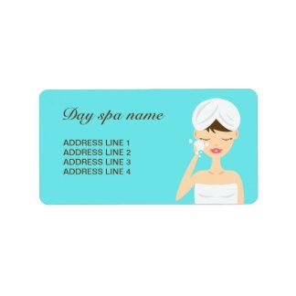 Bathing Woman Applying Soap Day Spa Blue Label