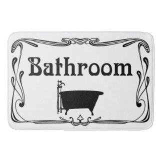 Bathmat bathroom vintage tub black white