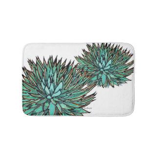 Bathmats - Spikey Blue Agave Bathroom Mat