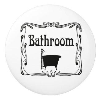 Bathroom bath tub door knob drawer pull ceramic knob