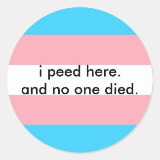 bathroom bill protest classic round sticker