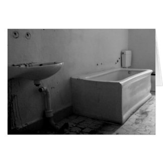 Bathroom (Black and white) Card