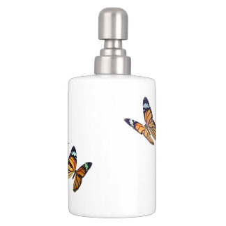 Bathroom Container Set - The Butterfly Collection Soap Dispensers