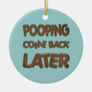 Bathroom Door Hanger Double-Sided Ceramic Round Christmas Ornament