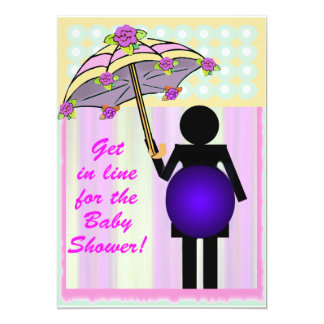 Bathroom Icon Baby Shower template 5x7 Paper Invitation Card