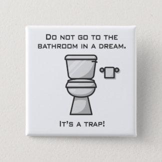 Bathroom Joke | Square Button