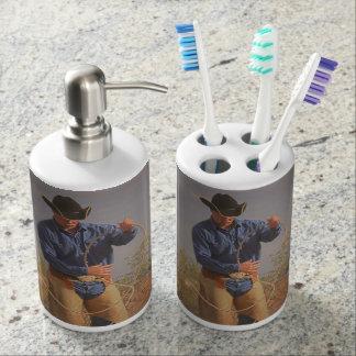 Bathroom Set Western Cowboy