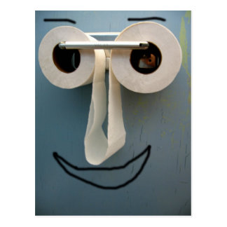 bathroom smile postcard
