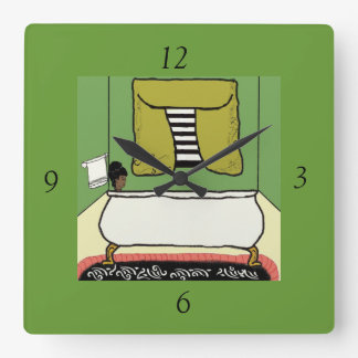 Bathroom Square Wall Clock