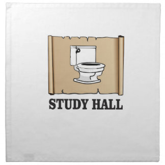 bathroom study hall napkin