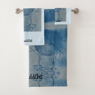 Bathroom Towel Set,Light Blue