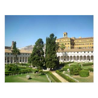 Baths of Diocletian courtyard Postcard