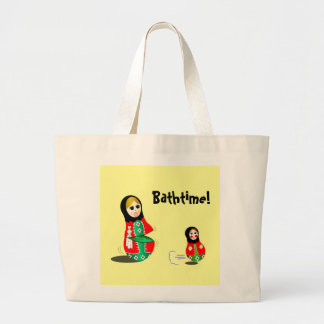 Bathtime! Large Tote Bag