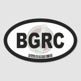 Bathtub Gin Railroad Company Oval Text and logo Oval Sticker