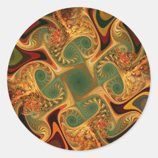 Batik 02 round sticker