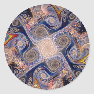 Batik 03 round sticker