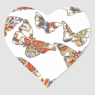 batik and butterfly no.3 collection stickers