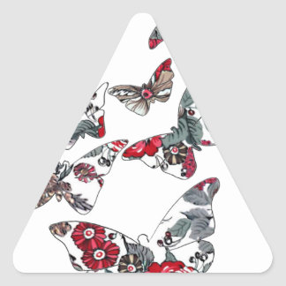 batik and butterfly no.5 triangle sticker