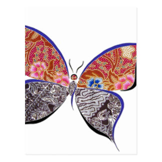 batik and butterfly no.6 collection postcard