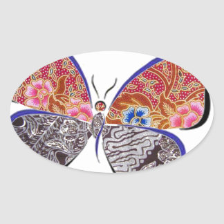 batik and butterfly no.6 collection stickers