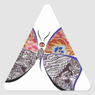 batik and butterfly no.6 collection triangle sticker