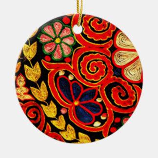 batik anggi 03 ceramic ornament