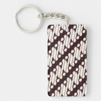 batik arjuna 011 keychain