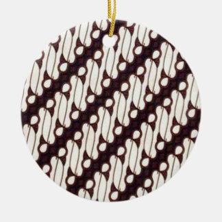 batik arjuna 03 ceramic ornament